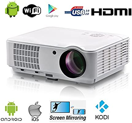 Full HD Proyector WiFi Video Proyector 1080P Home Theater ...