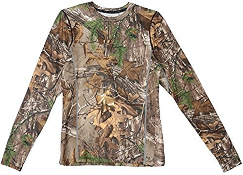 Terramar Men's Stalker Camo Performance Long Sleeve Crew T-Shirt, Real Tree Xtra, X-Small (Shirts T Real Tree)