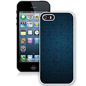 Blue Fine Grid Pattern Background (2) Hard Plastic iPhone 5 5S Protective Phone Case
