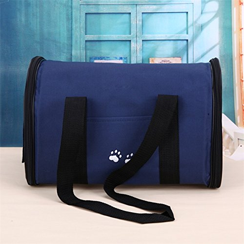 Zehui Soft-Sided Pet Carrier Portable Travel Bag Kennel for Cats, Dogs and Puppies Lightweight Breathable Handbag for Pets Blue L