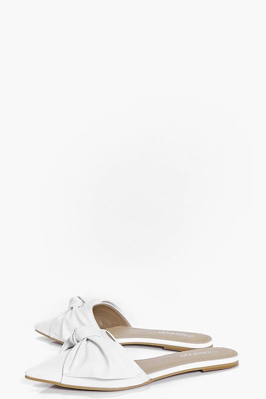 Weiß Damen Isabel Peeptoe-slipper Mit Zierknoten - 3: Amazon.de: Schuhe &  Handtaschen