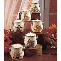 Sets of 6 Harvest Tea Light Crocks