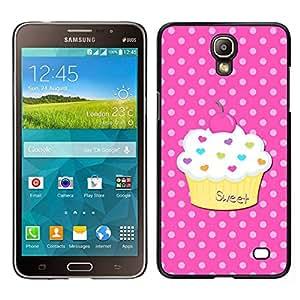 EJOY---Cubierta de la caja de protección para la piel dura ** Samsung Galaxy Mega 2 ** --Dulce Pastelería Lunares Rosa