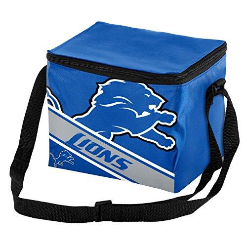 Lunch Box Lions (FOCO Detroit Lions Big Logo Stripe 6 Pack Cooler)