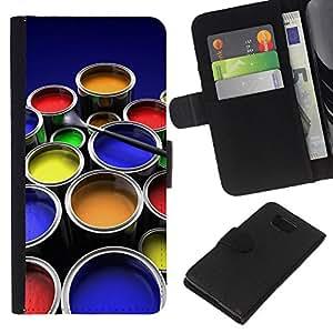 All Phone Most Case / Oferta Especial Cáscara Funda de cuero Monedero Cubierta de proteccion Caso / Wallet Case for Samsung ALPHA G850 // Painting Kit Art Drawing Color Pots Design