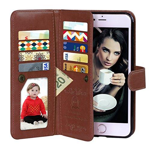 iPhone 6 Case, Vofolen 2 in 1 iPhone 6S Case Wallet Folio...