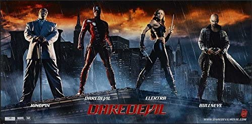 Daredevil 2003 S S Advance Rolled Movie Poster 13x27 At Amazon S Entertainment Collectibles Store