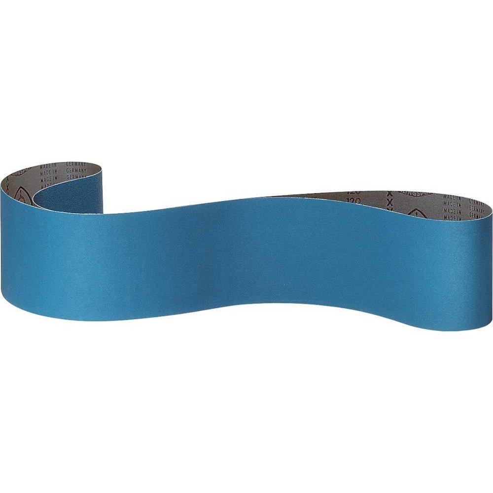 Bleu 75 x 2000 mm Klingspor 113664 CS 411 X Bande abrasive Grain 120 Corindon au zircon