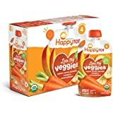 Happy Tot Organic Stage 4 Baby Food Love My Veggies Carrot Banana Mango & Sweet Potato, 4.22 Ounce Pouch (Pack of 16) Organic Baby/Toddler Food, Full Serving of Vegetables (Packaging May Vary)