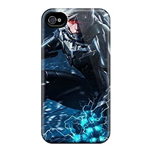 Tpu Phone Case With Fashionable Look For Iphone 4/4s - Metal Gear Rising Revengeance