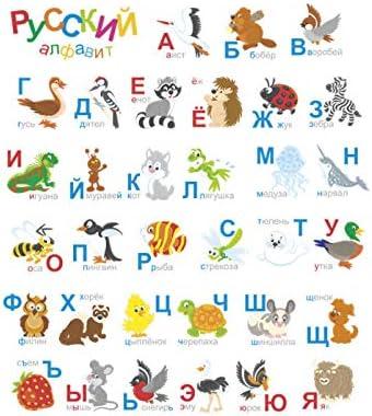 HHZDH Alfabeto Ruso Pegatinas De Pared Dormitorio Rusia ...