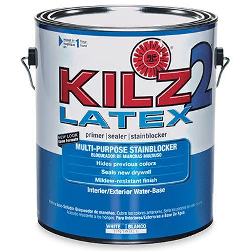 KILZ 2 Multi-Surface Stain Blocking Interior/Exterior Latex Primer/Sealer, White, 1-gallon
