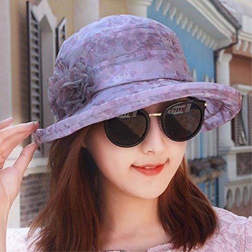 Transpirable Cool Rosa Perfil Yangfeifei Tapa Tejido Visor Verano Hat Bajo Chica Tapa a Sombreros mz Nieve Playa Púrpura Hilados Cap La De Cap c En HH18p