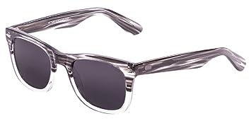 Ocean Sunglasses Lowers Lunettes de Soleil Mixte Adulte, Demy Black/White Down/Smoke Lens