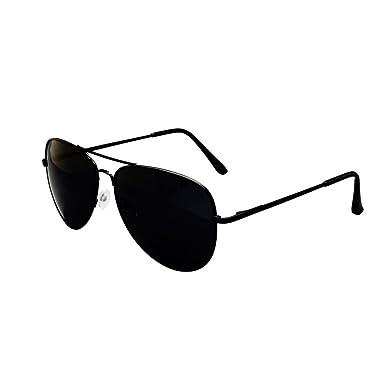 ASVP Shop Black Metal Aviator Sunglasses With Drawstring Pouch ...