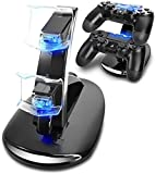 Games Accessories Dual USB Charging Charger Dock Station Stand for Playstation 4 PS4 Controller (Color: Black)