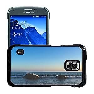 Just Phone Cases Etui Housse Coque de Protection Cover Rigide pour // M00421702 El océano oscila Mar Naturaleza Playa // Samsung Galaxy S5 Active SM-G870A (Not Fit S5)
