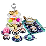 Liberty Imports Deluxe Afternoon Tin Tea Set with