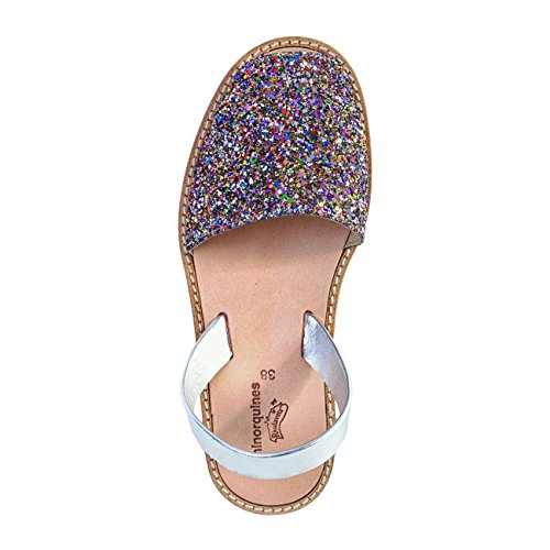 Donna multicolore Paillette Multicolore Minorquines Sandali Colorate Avarca ZnBw6zqOI