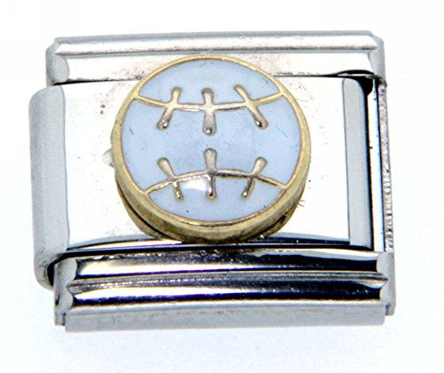 Clearly Charming Baseball Italian Charm Bracelet (Pugster Baseball)