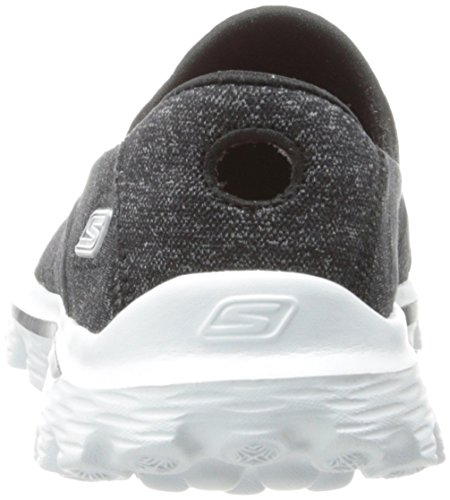 Baskets Gowalk Negro 2 Femme Skechers Mode Bkw Supersock wUTTqpt