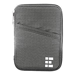 Zero Grid Passport Wallet - Travel Document Holder w/RFID Blocking (Shadow)