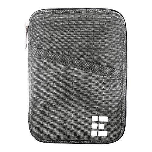 (Zero Grid Passport Wallet - Travel Document Holder w/RFID Blocking (Shadow))