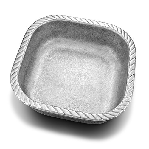 - Wilton Armetale Gourmet Grillware Square Serving Bowl, 1.25-Quart