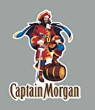 "5"" Captain Morgan Spiced Rum Beer Company Decal Sticker"