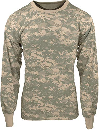 - Army Universe ACU Digital Camouflage Long Sleeve Military T-Shirt Pin - Size 4X-Large (57