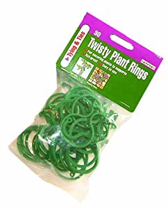 Gardman 7915 Twisty Plant Rings, 30-Pack