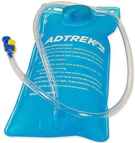 Adtrek - Trinkrucksack mit Wasserblase - Ideal zum Laufen/Radfahren - 2 Liter Grau