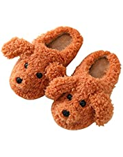 YHomU House Sandals Fuzzy Animal Warm Lightweight Furry Soft Non-skid Home Slippers for Kids Adults Household Home Indoor Kitchen Women Men Adult
