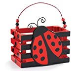 Adorable Ladybug With Hearts Wood Crate For Home Decor, Party Favor Or Decoration, Health Care Stuffs