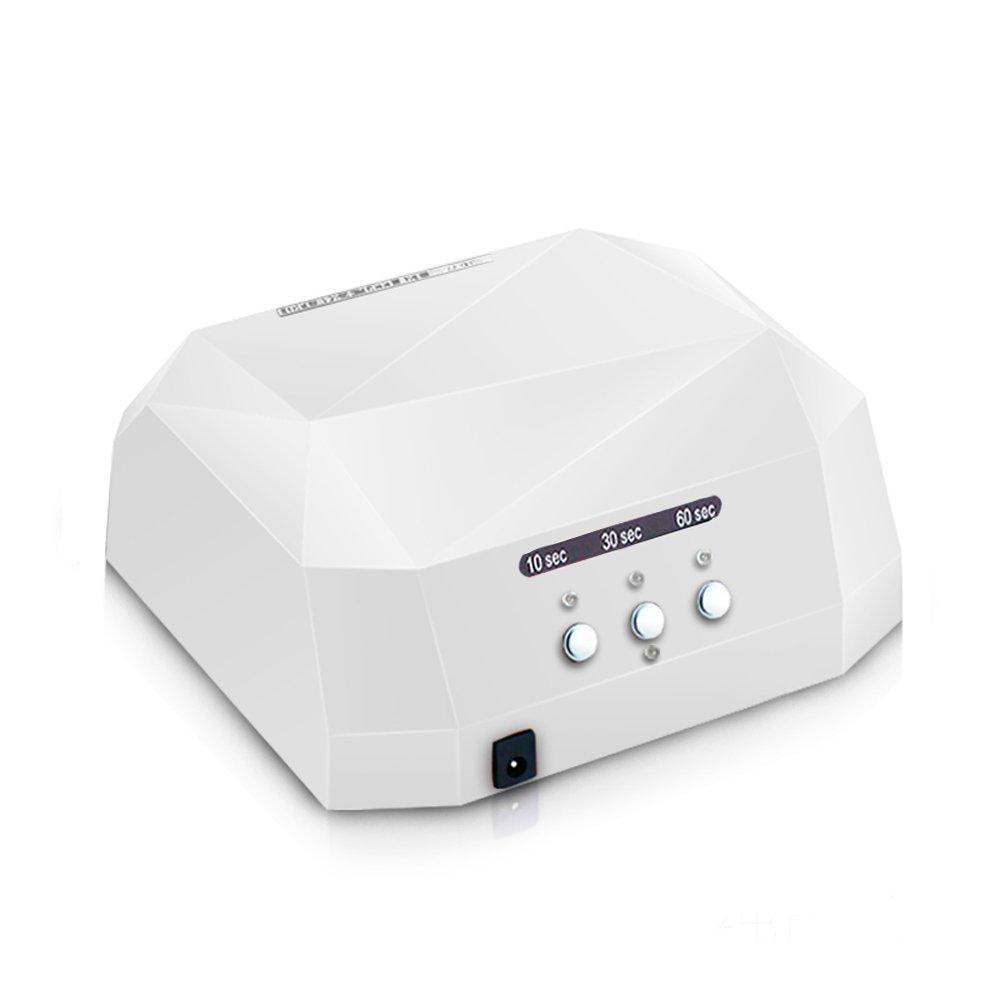 Vinteky®Lámpara LED Profesional Secador de Uñas Manicuras con Temporizadores de  y