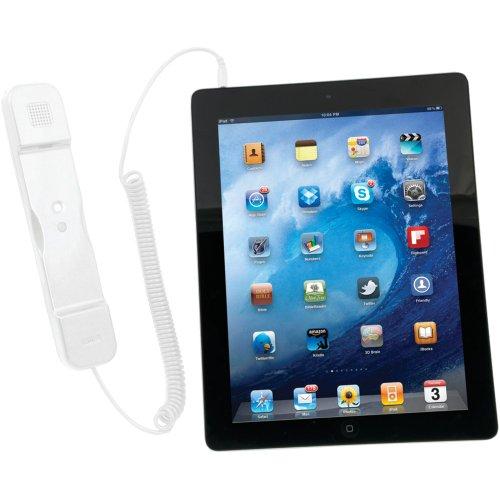CTA Digital Radiation Safe TelephoneHandset for iPad and iPhone, White (PAD-RSTW) - Cta Digital Digital Headphones