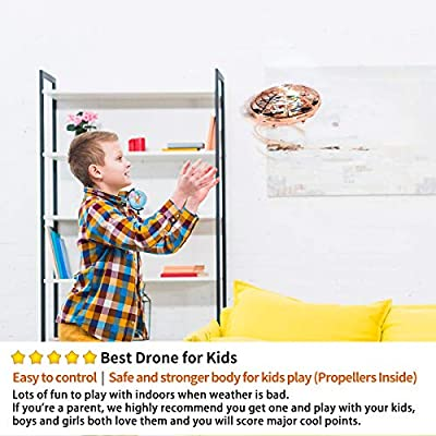 98K Hand Operated Drones for Kids or Adults, Light Up Joy Flying Ball Drone, Helicopter Mini Drone, Easy Indoor Small Flying Toys Gift for 4, 5, 6, 7, 8, 9, 10, 11, Year Old Boys and Girls: Toys & Games