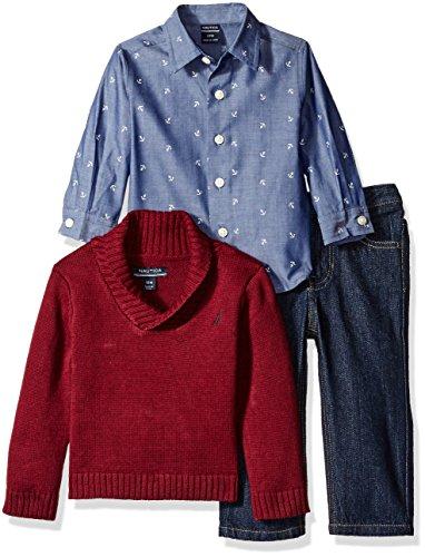 Nautica Three Piece Button Sweater