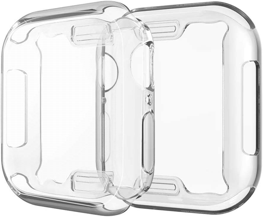Case Compatible Apple Watch 4 Clear Case with Built in TPU Screen Protector, All Around Overall Protective Ultra-Thin Cover Replacement for iWatch Series 4 (2-Pack) (New Case for Series 4 40mm)