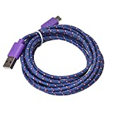 USB Data Hstore Universal 1M Micro USB Charger Cable Cord Faster Transfer &Sync Faster Charger Cable for Android Phone HOT (Purple)