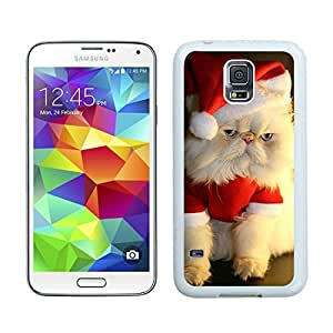 Fashion Style Christmas Cat White Samsung Galaxy S5 Case 14