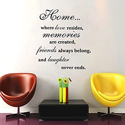 Amazon Com Wall Sticker Home Art Quotes Family Quotes Wall Sticker