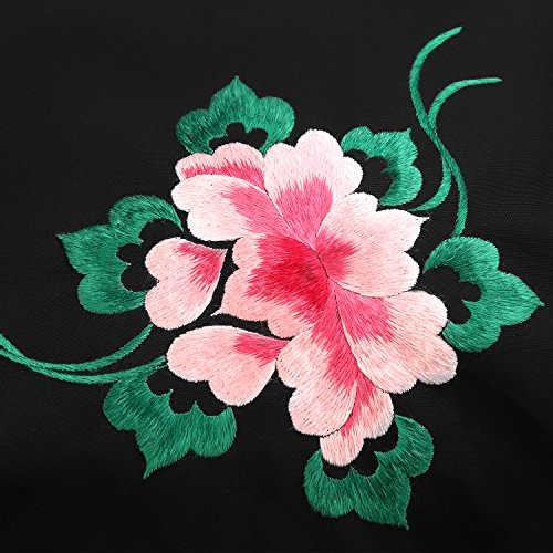 véritable chinois sac fleurs dos à papillon broderie sac bandoulière cuir style la Femmes broderie dos à à en à main sac qUZRH0X