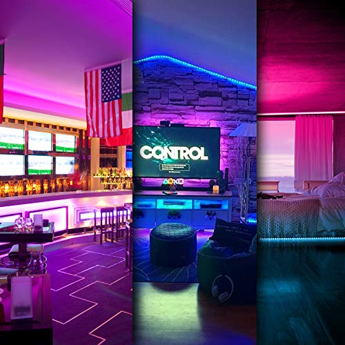 DAYBETTER Led Strip Lights 100ft (2 Rolls of 50ft) Smart Light Strips with App Control Remote, 5050 RGB Led Lights for Bedroom, Music Sync Color Changing Lights for Room Party