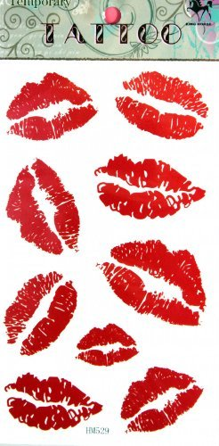 SPESTYLE waterproof non-toxic temporary tattoo stickersnew design red lip temporary temporary tattoos for $<!--$2.96-->