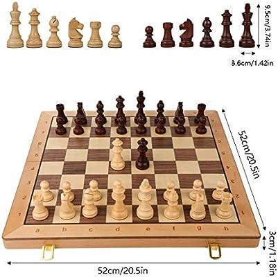 YOYO Ajedrez Plegables de Madera Internacional de Ajedrez Juego de Piezas Set Juego de Mesa Divertido Juego de ajedrez Colección portátil Juego de Mesa de Regalos Juego de Ajedrez: Amazon.es: Hogar