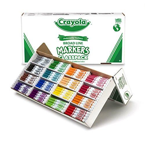 Crayola Broad Line Markers Bulk  256 Count Classpack