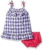 Hatley Baby Girls' Lady Bug Garden-Gingham Picnic Dress, Blue, 6-12 Months