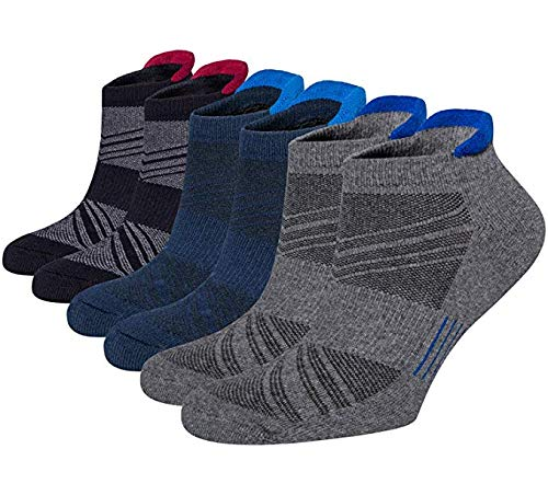 (Women's 3-6 Pairs Ankle Socks, No Show Casual Cotton Low Cut Socks)