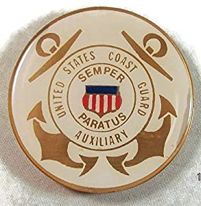 USCG US COAST GUARD AUXILIARY Proud Military Family US Armed Forces Challenge Coin